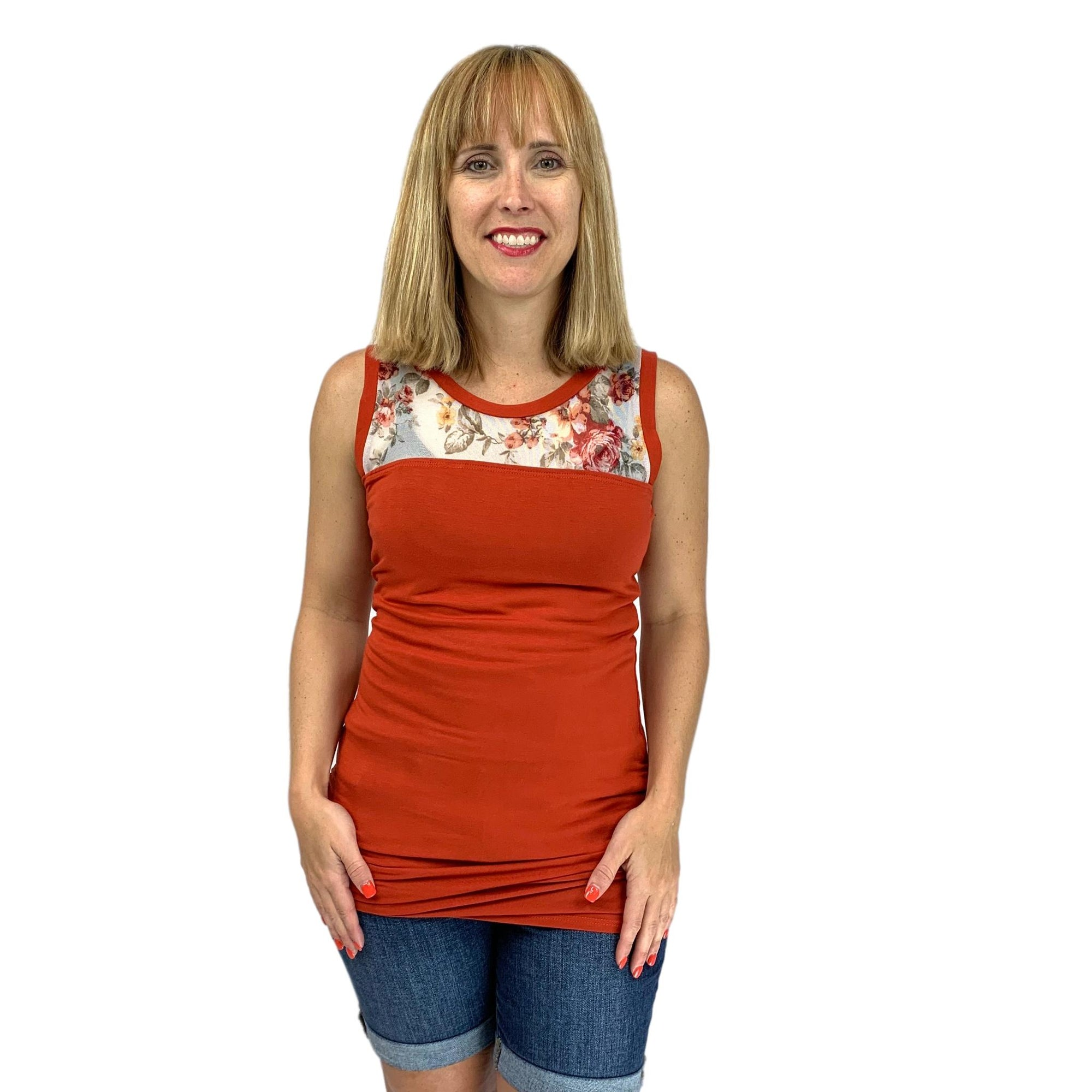Shirring Sleeveless Top