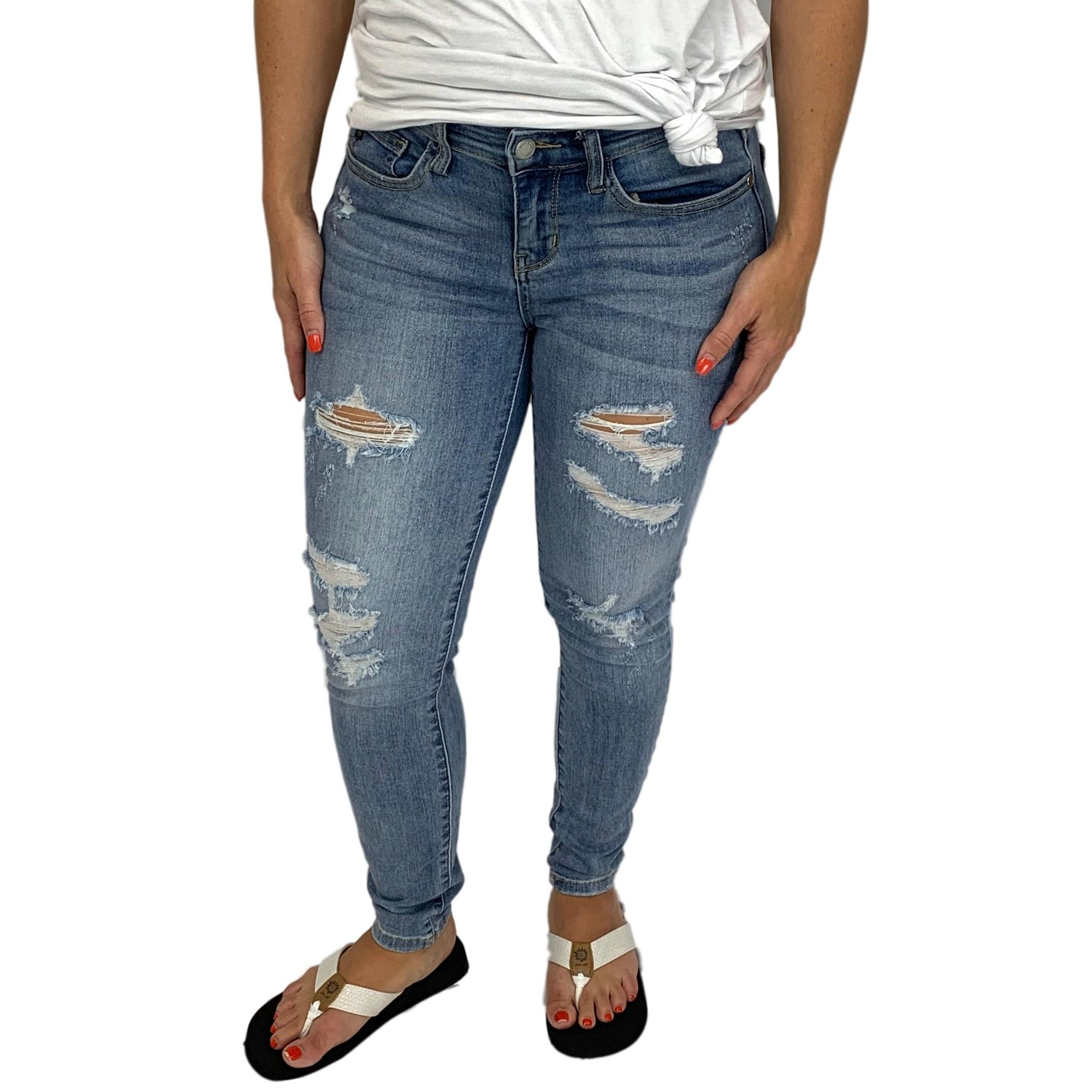 Judy Blue Light Distressed Jeans