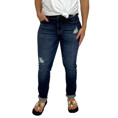 Judy Blue Tapered Slim Fit Boyfriend Jeans