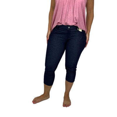 Classic Solid Color Capri Jeggings All Sizes