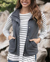 Grace and Lace Knit Puffer Vest