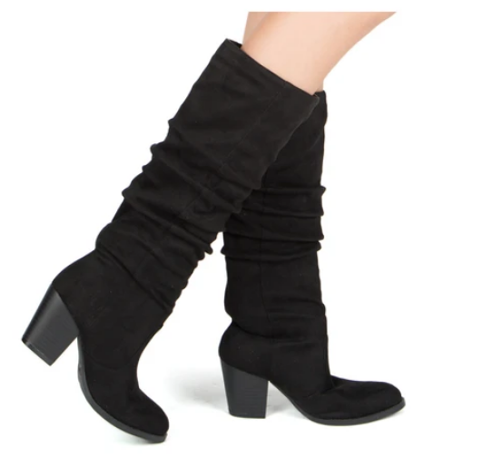 Tyson Stretch Suede Knee High Boot