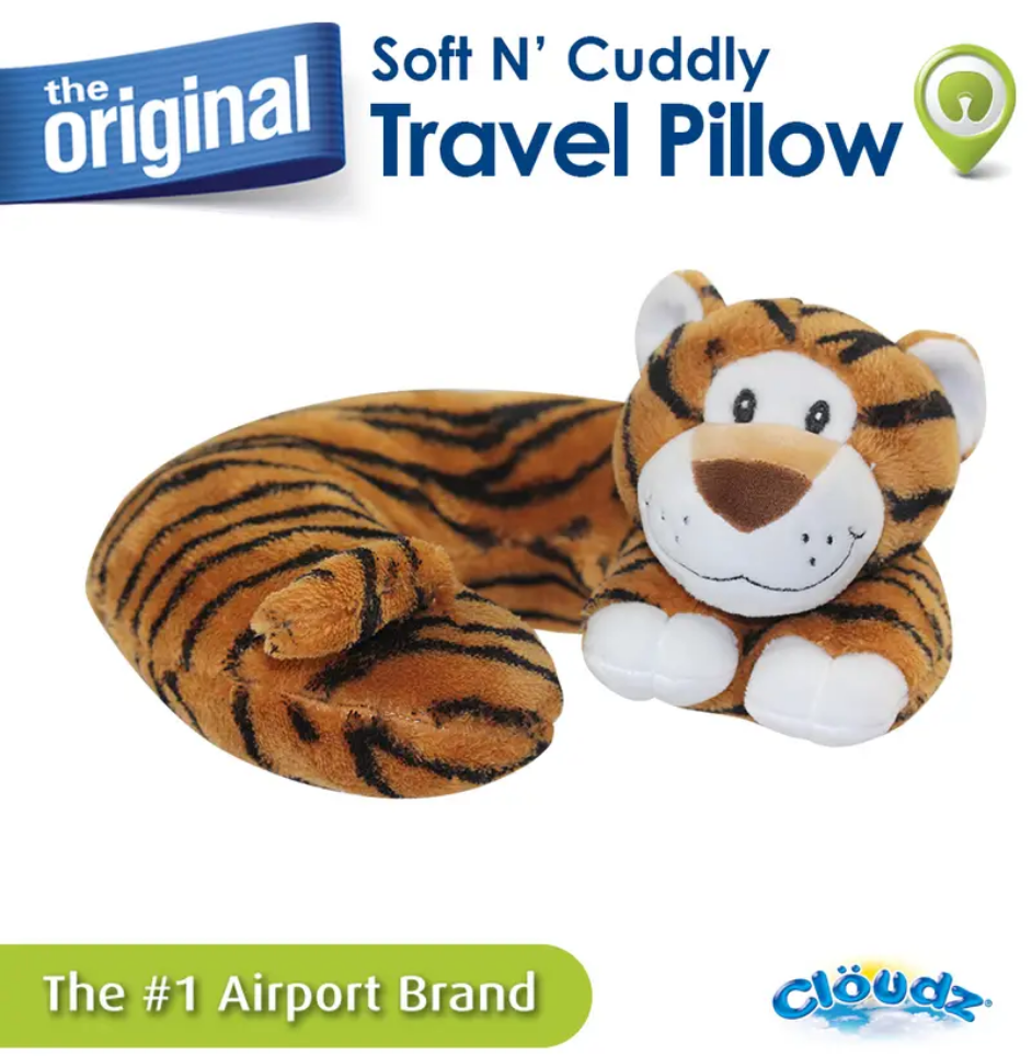 Cloudz Plush Animal Travel Neck Pillow - The Original