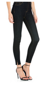Cello High Rise Dark Wash Skinny Jeans with Bottom Slits