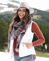Grace and Lace Plaid Triangle Scarf