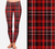 Christmas Plaid Printed Leggings