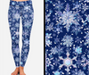 Snowflakes Printed Leggings