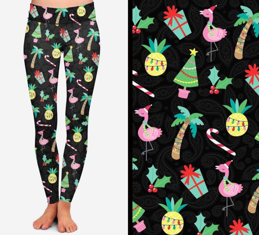 Warm Weather Christmas Printed Leggings