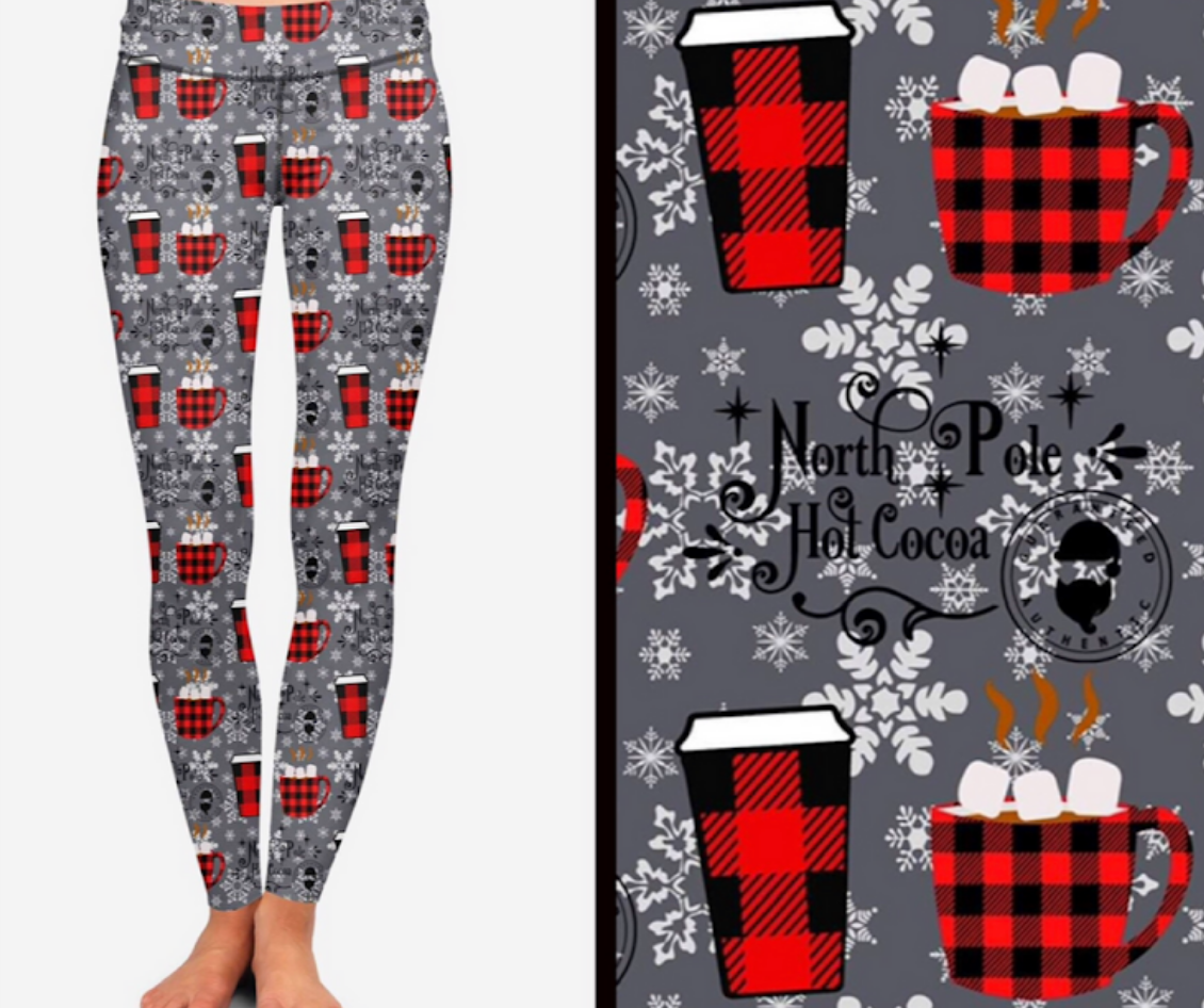 Plaid Cocoa Printed Leggings