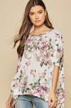 Floral Dolman Sleeve Oversized Top
