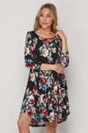 Criss Cross Back Floral Dress