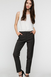 Slim Straight Pants with Pockets