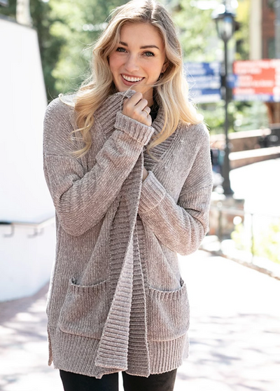 Grace and Lace Chenille Cardigan