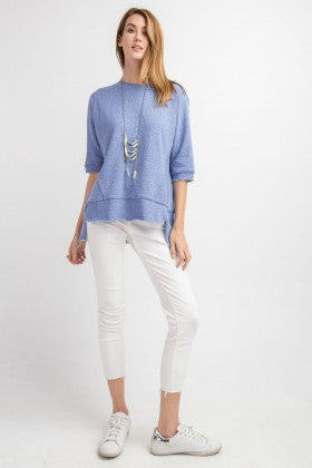 Boxy Terry Hi-Low Tunic Top