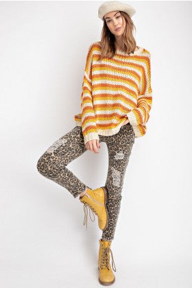 Candy Corn Knit Sweater