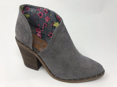 Lilly Corduroy Cutout Booties