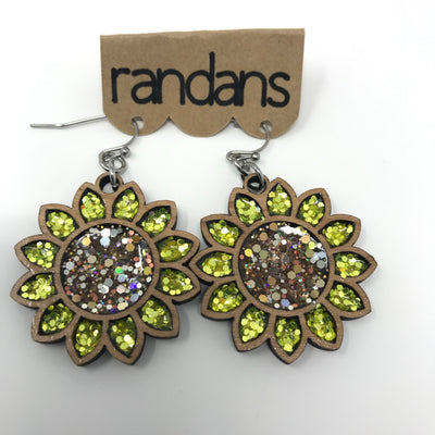 Nature Hand Crafted Glitter Earrings