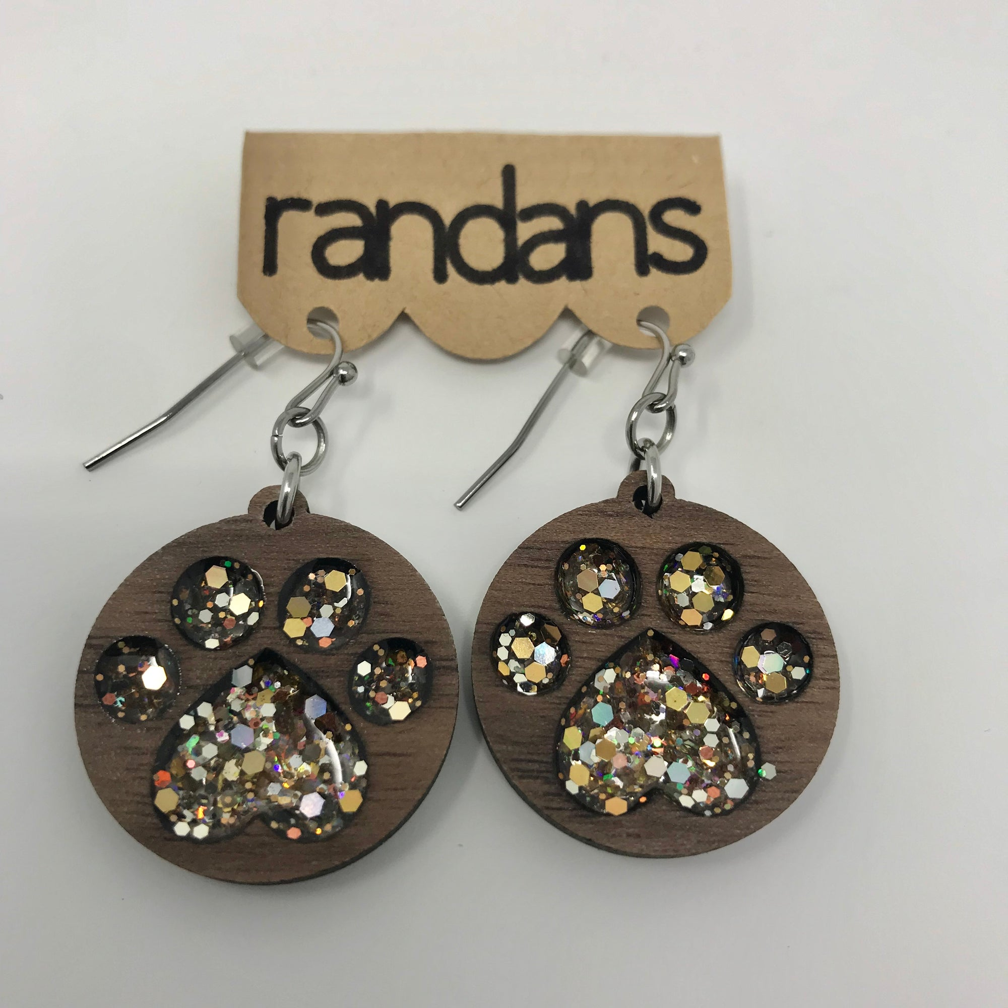 Animal Hand Crafted Glitter Earrings