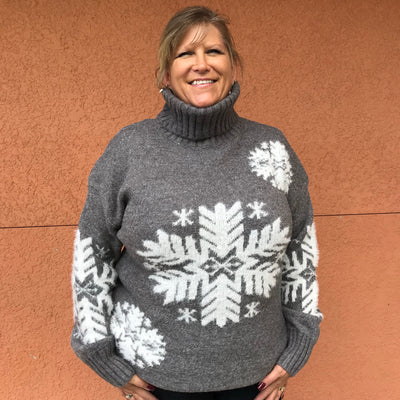 Snowflake Turtle Neck Sweater