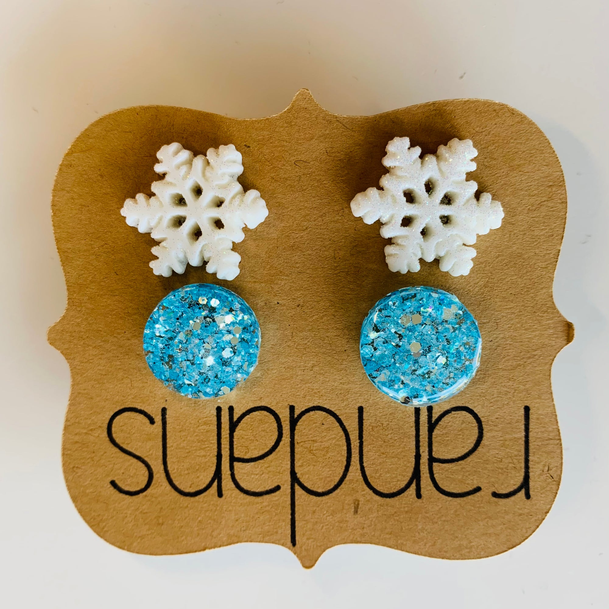 Winter Snowflake Stud Earrings
