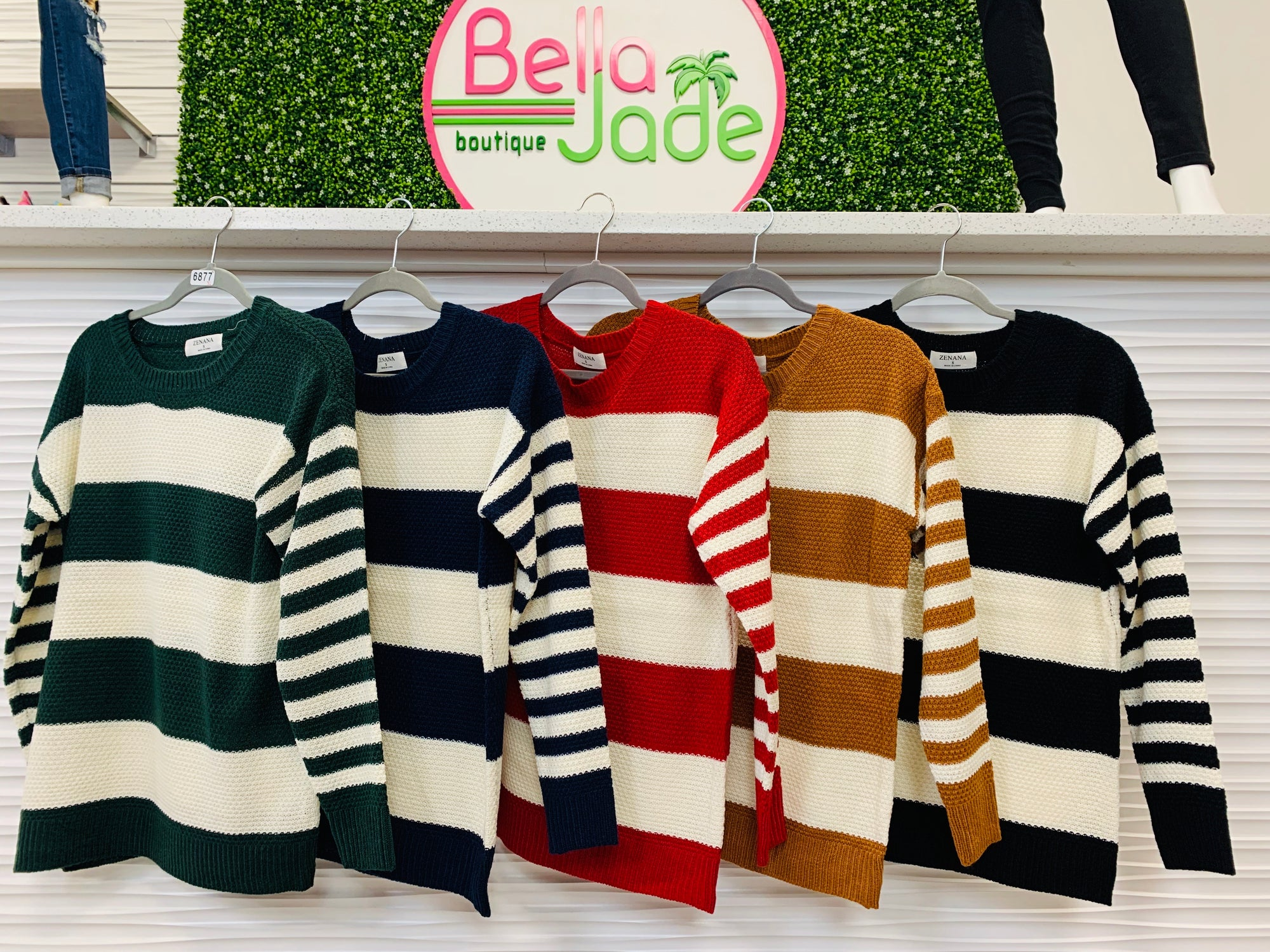 Bold Mid Knit Striped Sweater