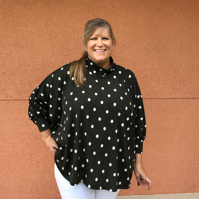 Oversized Polkadot Top