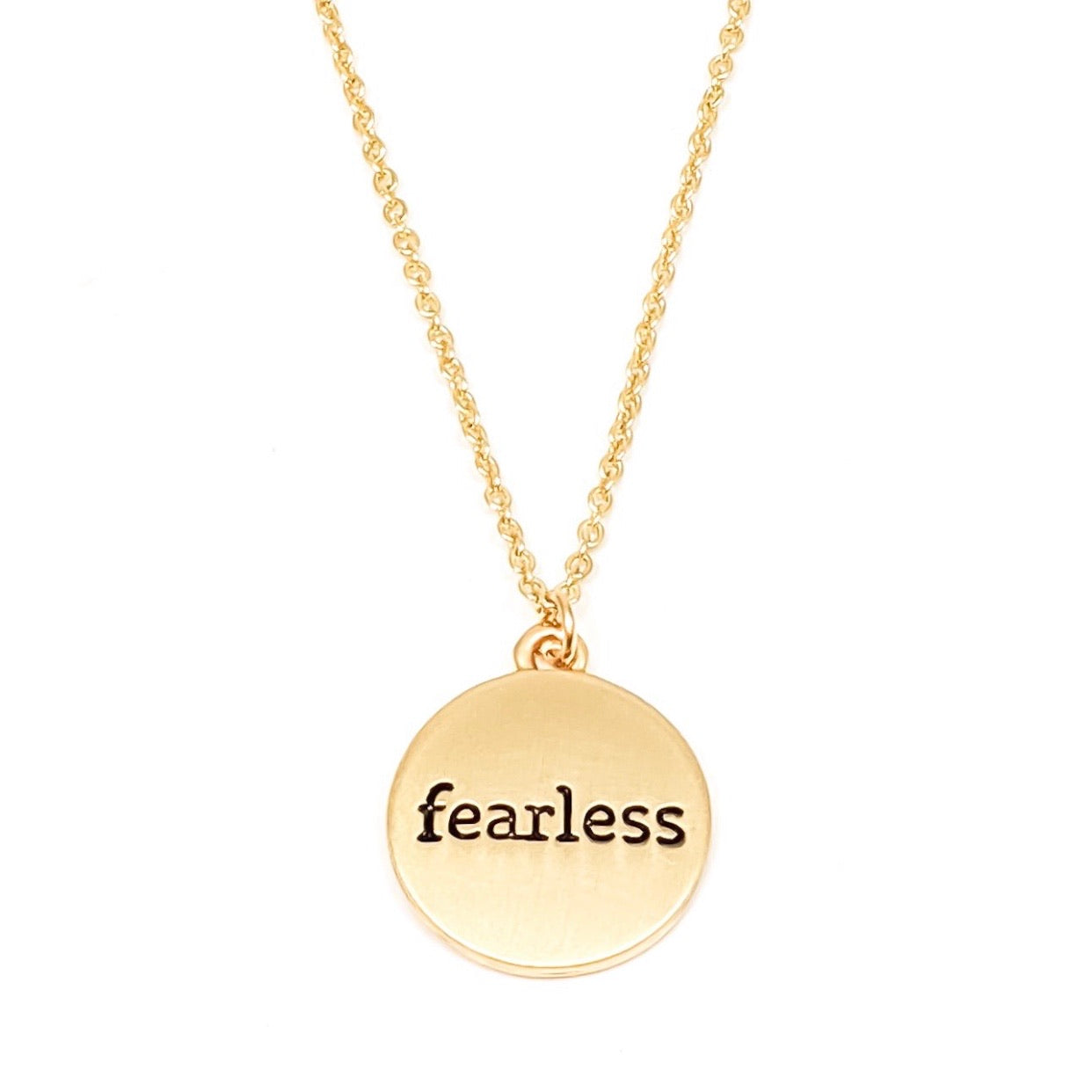 Fearless Word Necklace