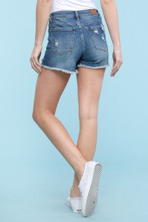 Judy Blue Destroyed Cut Off Shorts