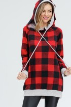 Buffalo Plaid Hooded Sweater