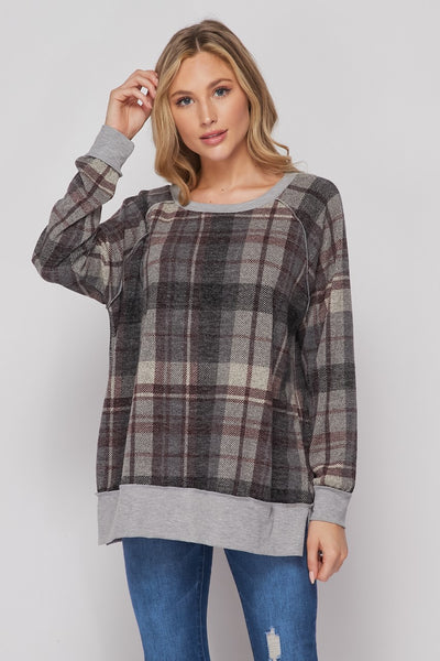 Plaid Pullover Sweater