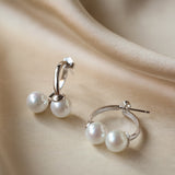 Celina Two Way Pearl Stud Earrings Gold