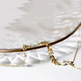 Wheat and Pearl Necklace Silver