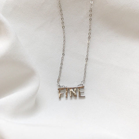 FINE Letter Necklace Silver
