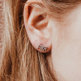 GRL PWR Girl Power Stud Earrings Silver