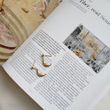 Funny Face Moon Earrings Gold