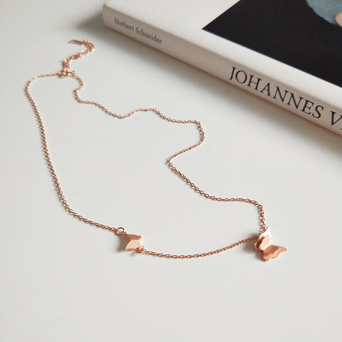 Butterfly Choker Rose Gold