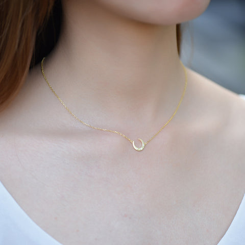 Moon Star Necklace Gold