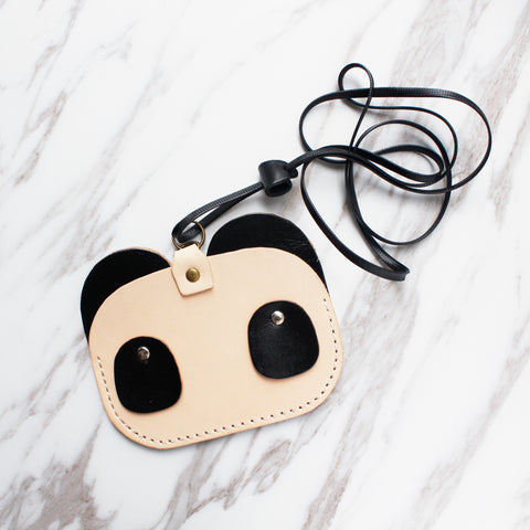 Panda Leather Cardholder