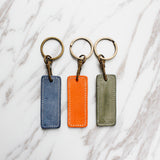 Waxed Vegetable Tanned Leather Keychain