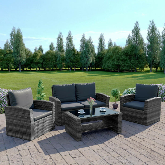 Rattan Garden Sofa Furniture Sets Various Colours - BlueWhaleSales