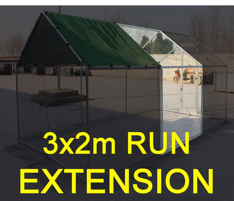 Dog, Chicken, Rabbit Cage 3 x 2M Extension addon for Walk in Run * FULL WALK IN RUN REQUIRED