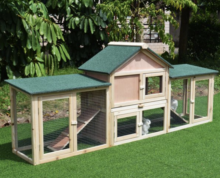 Large Chicken Coop Poultry Hutch Run Hen Rabbit House