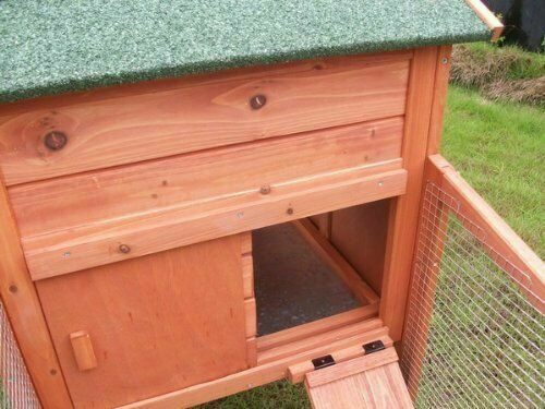 Rabbit Hutch 2 Tier Chicken Coop For 1 Bird or 2 Small