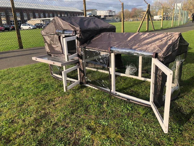 Rabbit Hutch With Run 5FT Grey