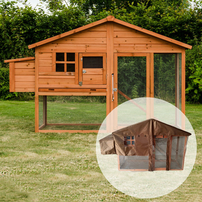 Chicken Coop House Rabbit Hutch For 4-5 Birds