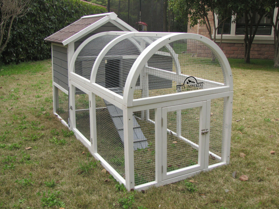 Chicken Coop Hen House Rabbit Hutch Run For 4 Birds