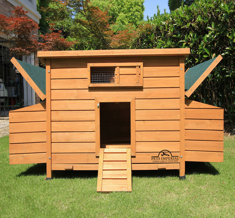 Chicken Coop Ark House Hutch Run For 10 Birds