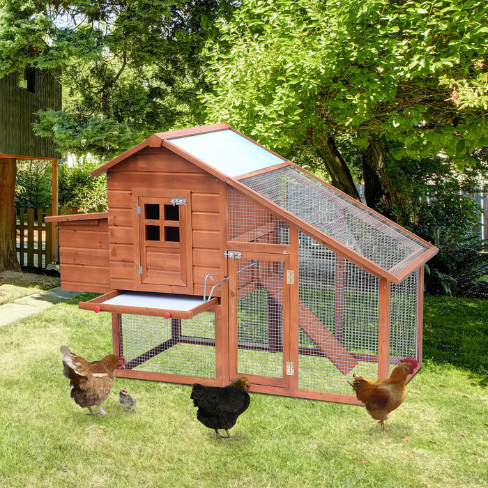 Chicken Coop Rabbit Hutch Run For 3-10 Birds