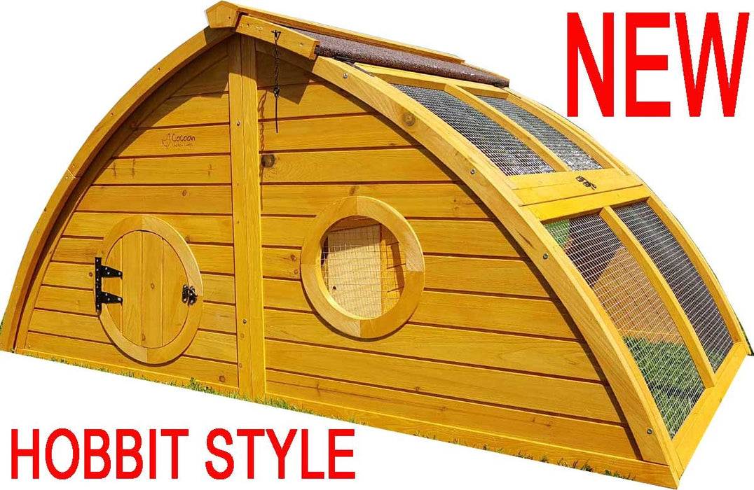 Chicken Coop House With Run / Rabbit Hutch For 2-4 Birds