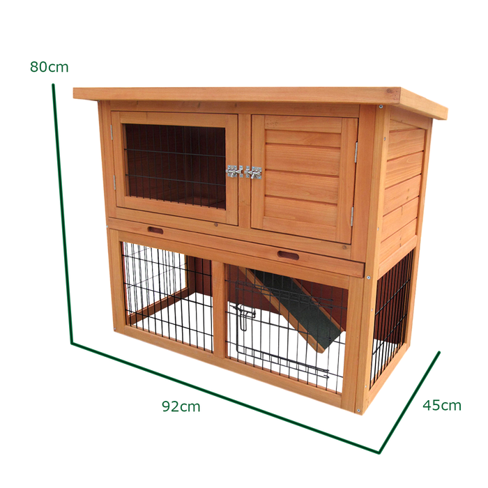3FT Rabbit Hutch and Run 2 Tier Run